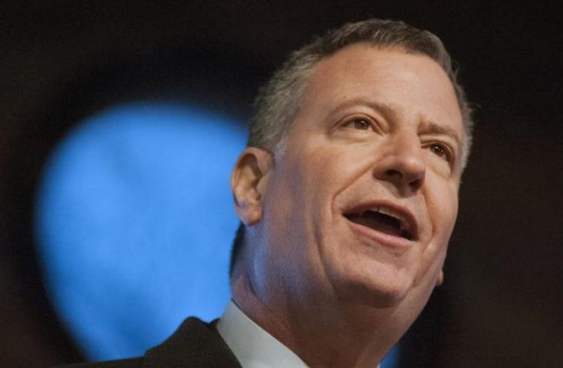 New York City Mayor Bill de Blasio (photo credit: REUTERS)