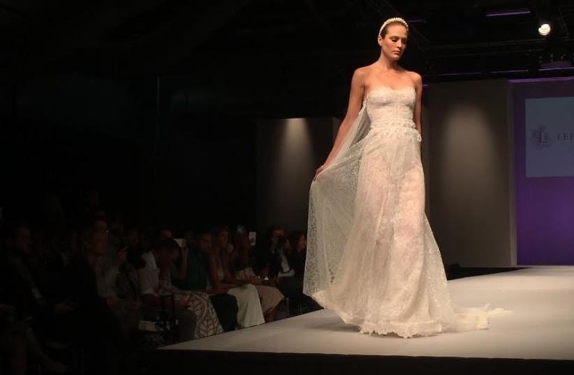 Wedding dress at NYC Bridal Show (photo credit: DANIELLE ZIRI)