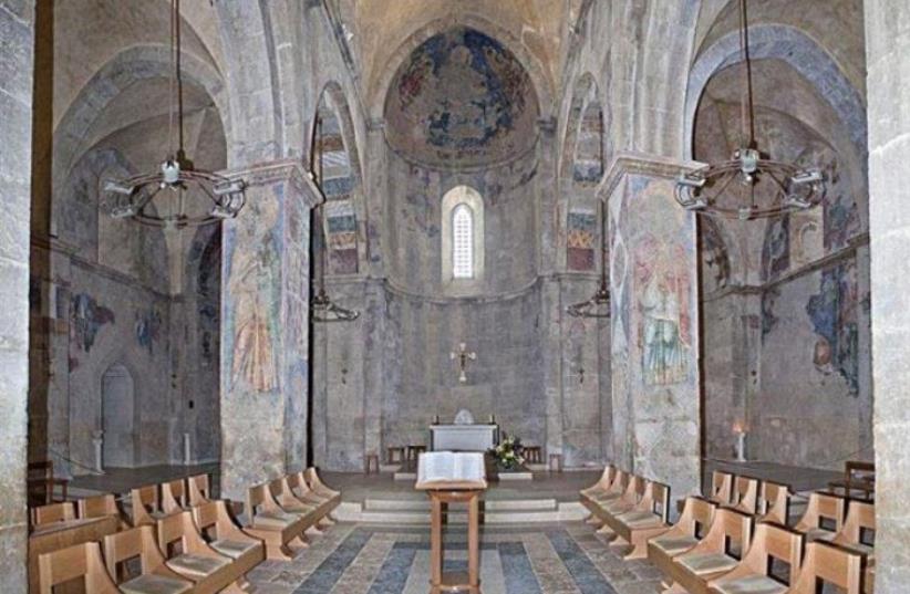 Kiryat Ye'arim Church in Abu-Gosh (photo credit: TOURISM MINISTRY)