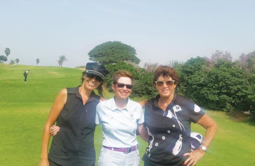 2015 Ga'ash Women's Club Championships (from left) Nikita Ben-Ami, Norma Kaufman and Ophra Dagan. (photo credit: Courtesy)
