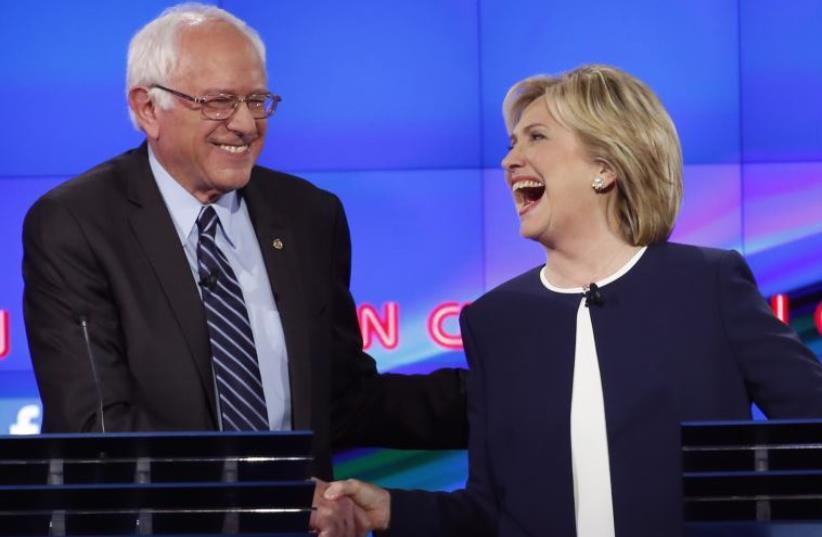 Bernie Sanders and Hillary Clinton (photo credit: REUTERS)
