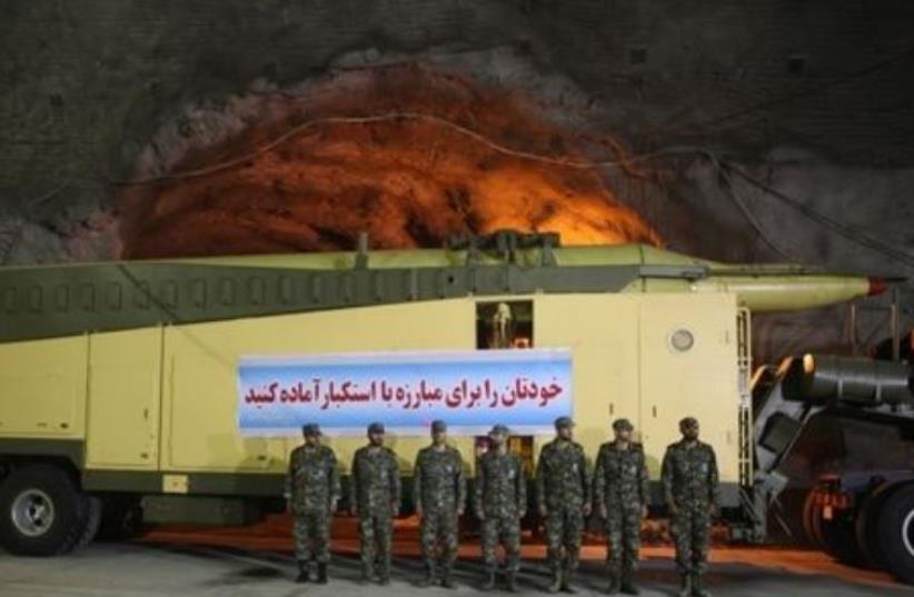 Iran reveals underground missile base (photo credit: IRANIAN MEDIA)