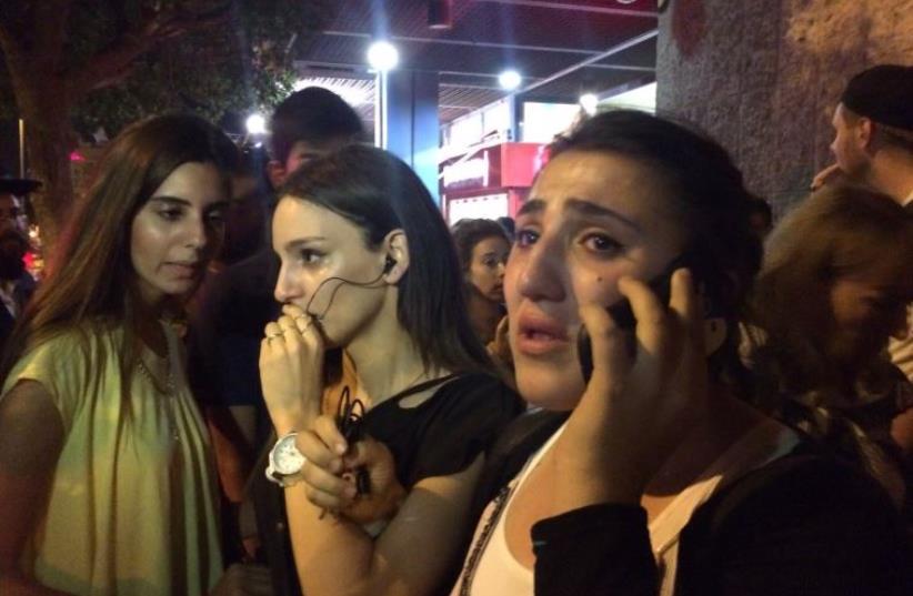 Scene of stabbing attack near Jerusalem Central Bus Station  (photo credit: SAM SOKOL)