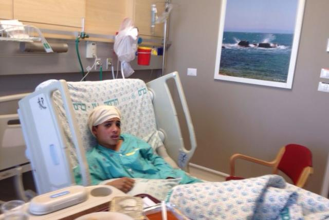 13-year-old east Jerusalem boy who carried out stabbing attack in Pisgat Ze'ev hospitalized at Hadassah University Medical Center in Jerusalem's Ein Kerem (photo credit: Courtesy)