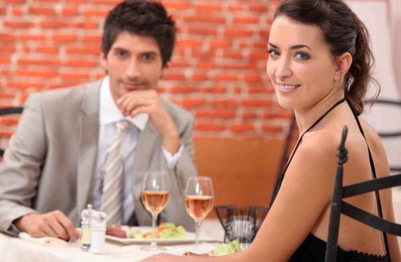 A couple on a date [Illustrative] (photo credit: INGIMAGE)