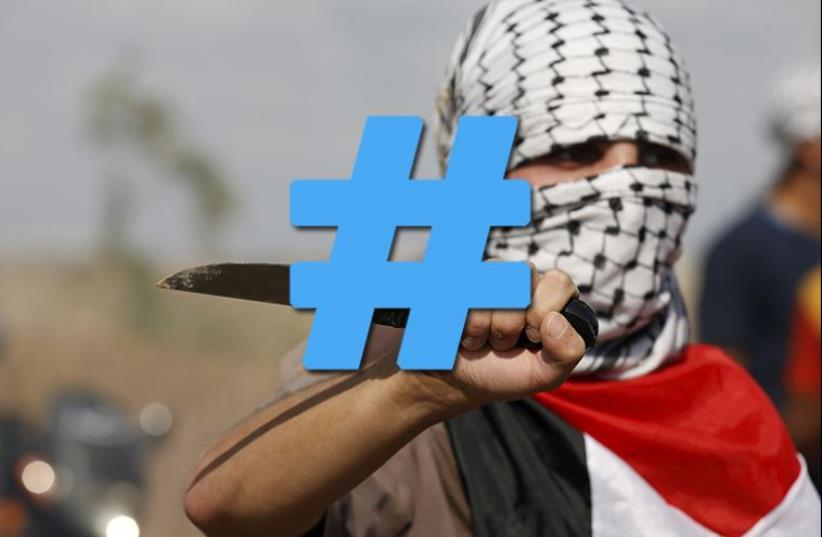 Intifada hashtag (photo credit: REUTERS,JPOST STAFF)
