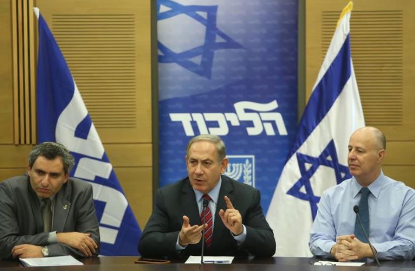 Netanyahu speaks at Likud faction meeting (photo credit: MARC ISRAEL SELLEM/THE JERUSALEM POST)