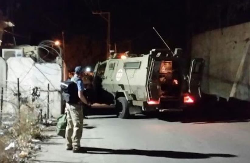 Scene of stabbing attack in Hebron, October 20, 2015 (photo credit: Courtesy)