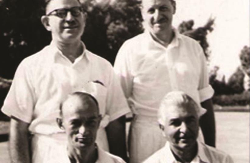Israel national lawn bowls team from 1953: Percy Manham, Wellesley Aron, Jack Raphael and Max Spitz (photo credit: Courtesy)