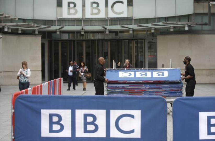BBC headquarters  (photo credit: REUTERS)
