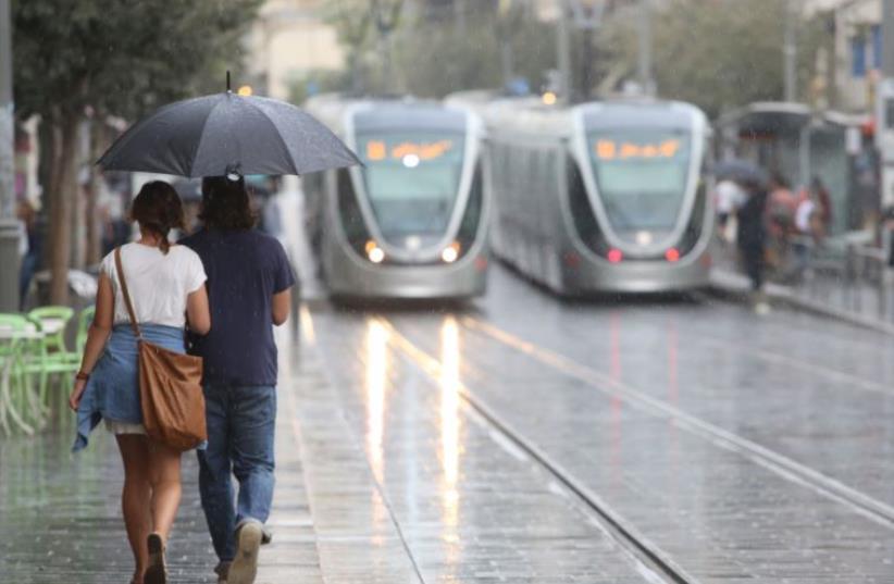Rain in Jerusalem (photo credit: MARC ISRAEL SELLEM/THE JERUSALEM POST)