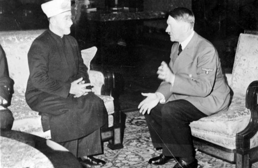 Entrevue entre Hitler et le Grand mufti en 1941 (photo credit: Wikimedia Commons)