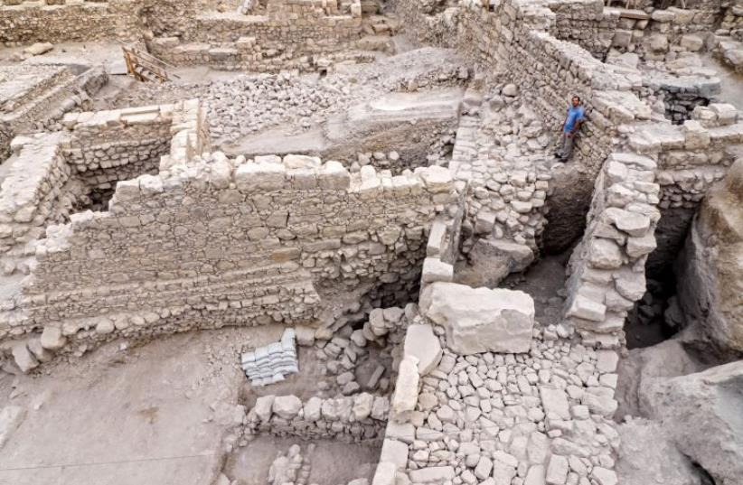 Remains of the fortress (photo credit: Israel Antiquities Authority)