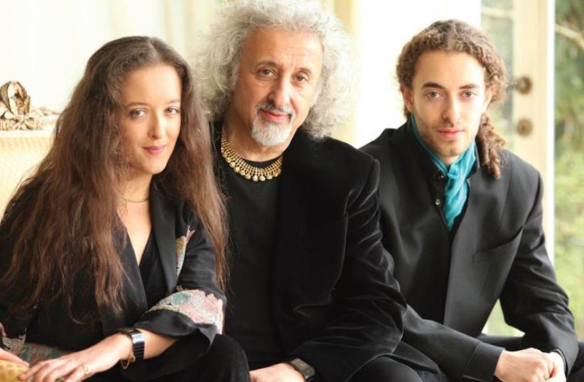 Mischa Maisky with his children (photo credit: PR)