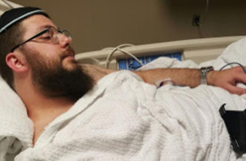 Hatzolah worker David Katz, who was stabbed on November 3 while walking off duty in Brooklyn, New York (photo credit: HAREDIM 10)