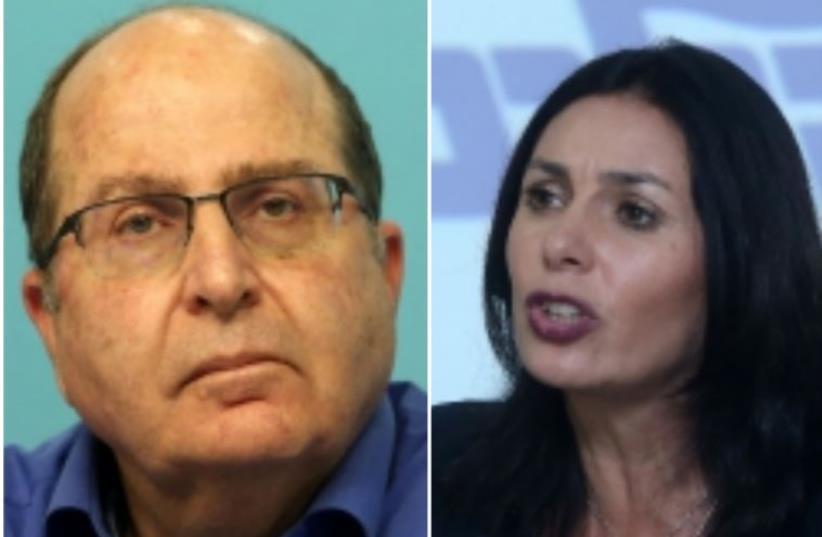 Likud Ministers Moshe Ya'alon and Miri Regev (photo credit: MARC ISRAEL SELLEM)