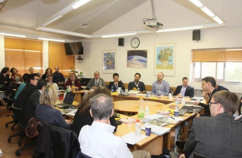 Haifa University conference with Israeli and UK academics. (photo credit: HAIFA UNIVERSITY)