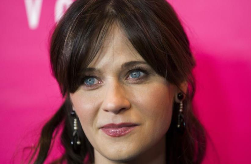Actress Zooey Deschanel (photo credit: REUTERS)