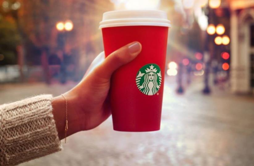 Starbucks red holiday cups (photo credit: STARBUCKS)