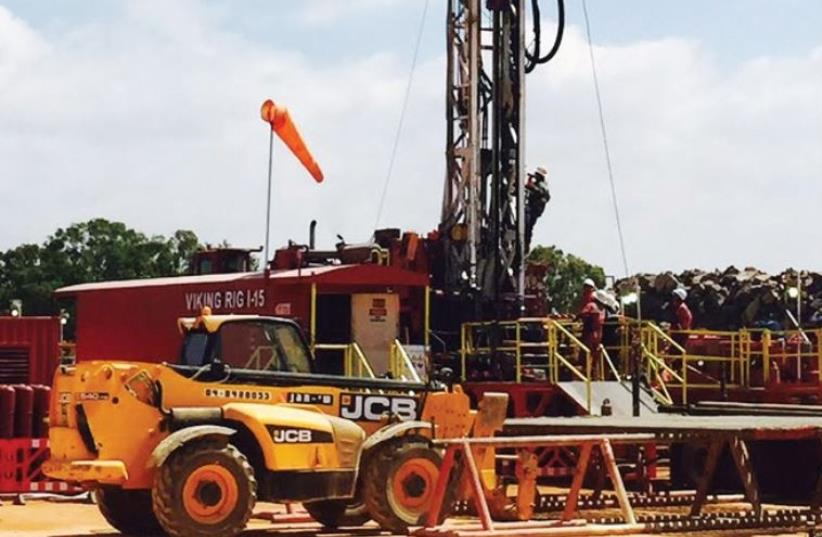 Equipment for drilling test wells, in the Golan (photo credit: Courtesy)