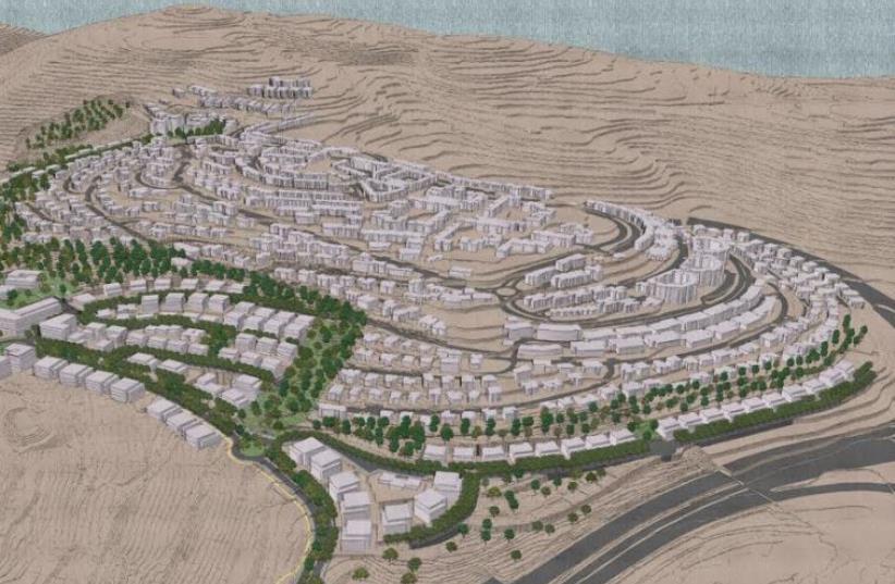 Renderings of ramot slopes. (photo credit: ISRAEL LANDS AUTHORITY)