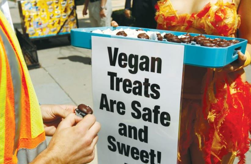 Vegan-friendly restaurants and events are gaining popularity in Israel (photo credit: REUTERS)