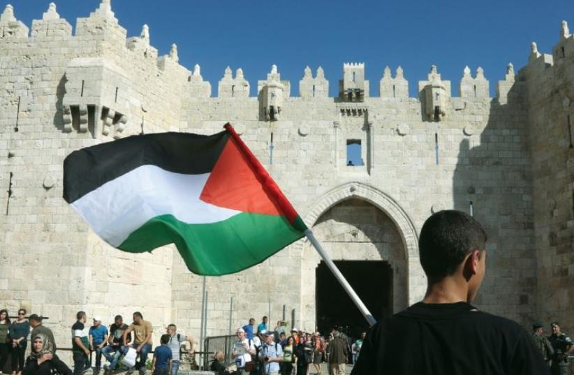 Damascus Gate on Nakba Day (May 15) (photo credit: MARC ISRAEL SELLEM/THE JERUSALEM POST)