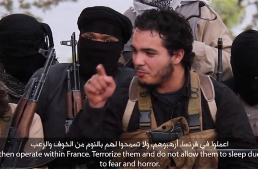 ISIS video calls on Muslims to carry out attacks in France (photo credit: ISLAMIC SOCIAL MEDIA)
