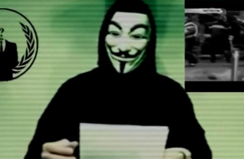 Anonymous video message (photo credit: screenshot)