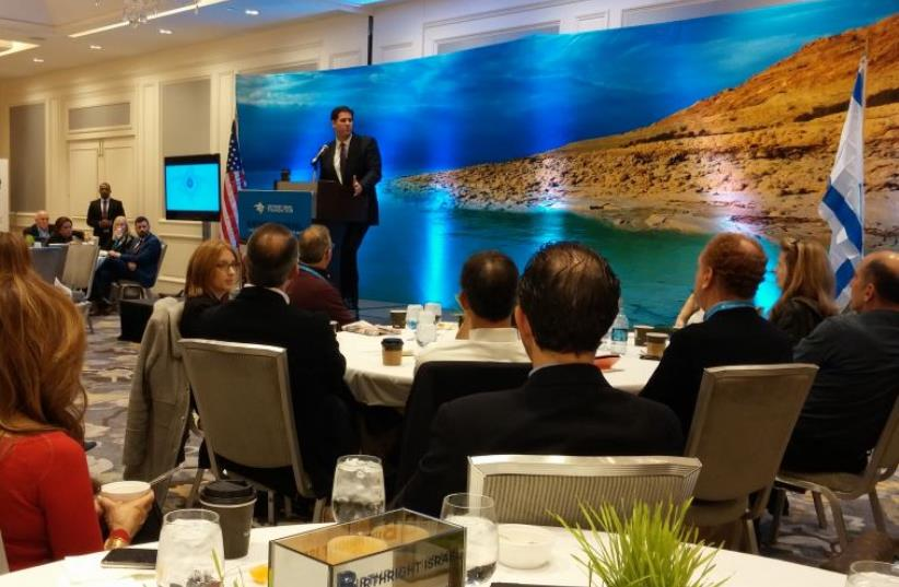 Israel's Ambassador to the US Ron Dermer (photo credit: DAVID BRINN)