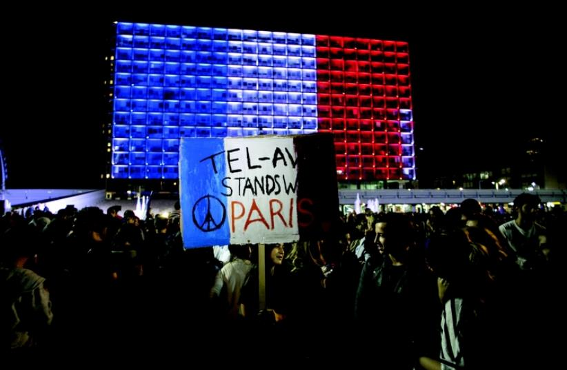 Manifestation de solidarité à Tel-Aviv (photo credit: REUTERS)