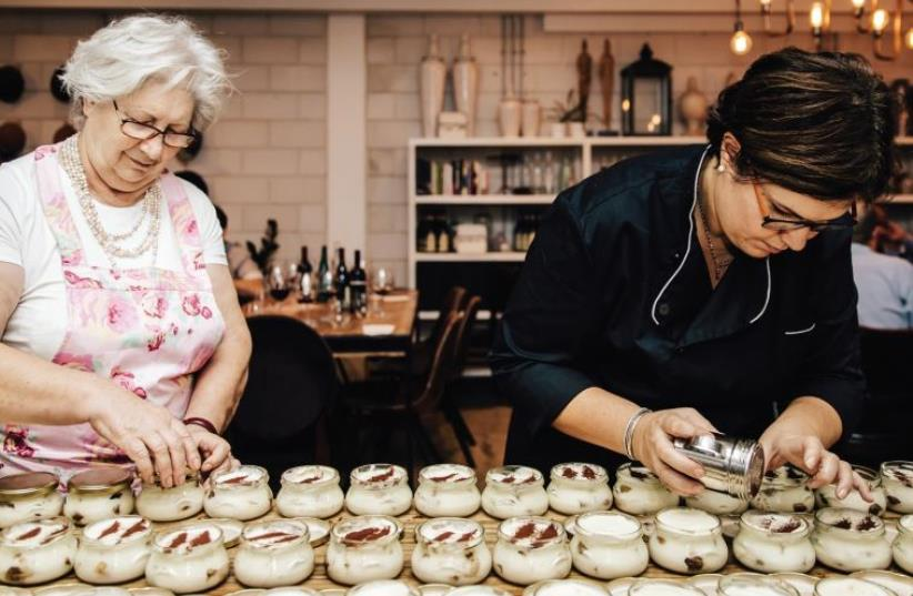 Two Italian cooks, a mother and daughter, brought their age old traditions to Tel Aviv (photo credit: MATAN KATZ)