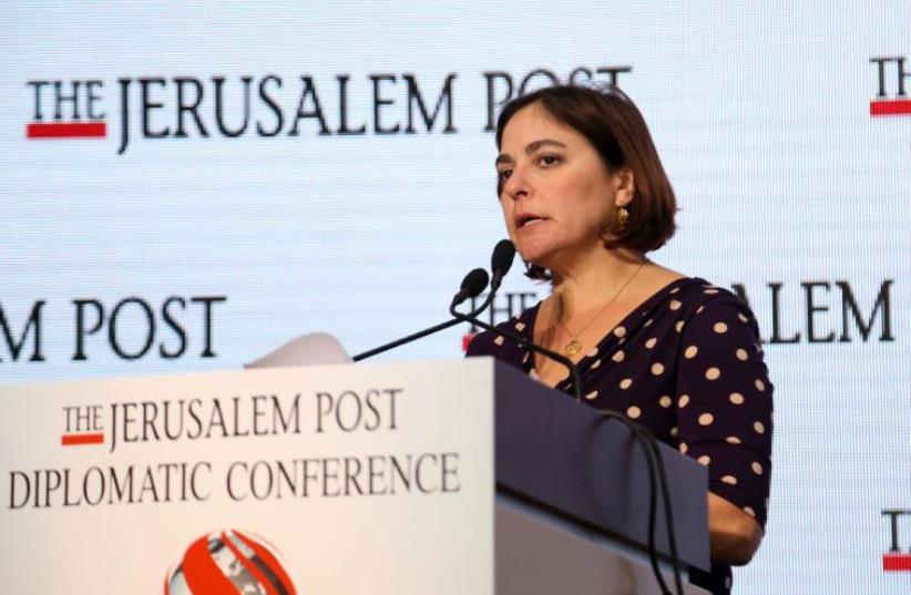 Caroline Glick at the Jerusalem Post's Diplomatic Conference (photo credit: SIVAN FARAG)