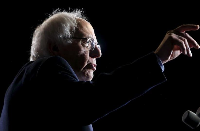 Sen. Bernie Sanders (I-Vt.) campaigns in Cleveland (photo credit: REUTERS)