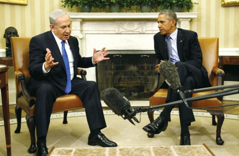 PM Netanyahu and President Barack Obama meet in the White House last week (photo credit: REUTERS)