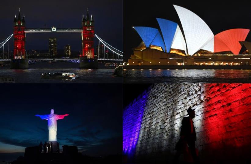 Je suis Paris (photo credit: DSK / AFP)