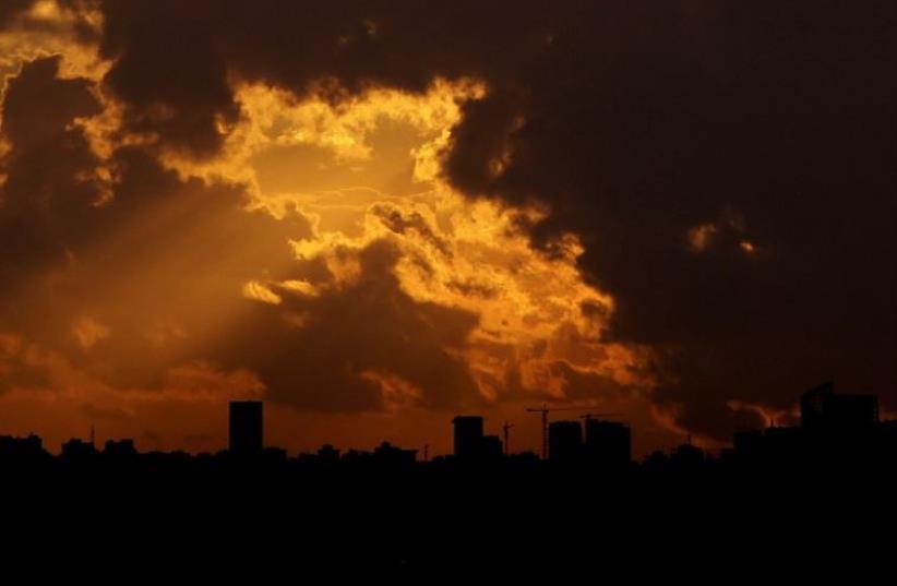 Beirut's skyline at sunset (photo credit: AFP PHOTO)