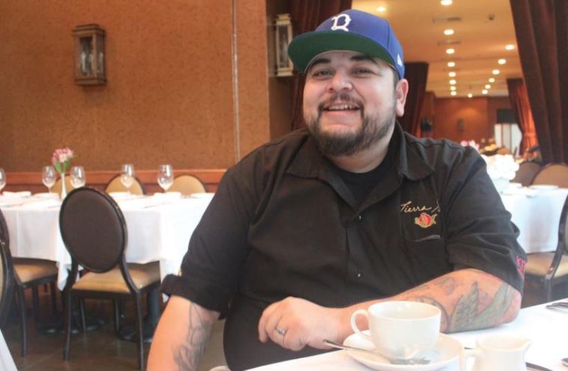 CHEF GABE Garcia of Tierra Sur kosher restaurant takes a break (photo credit: GEORGE MEDOVOY)