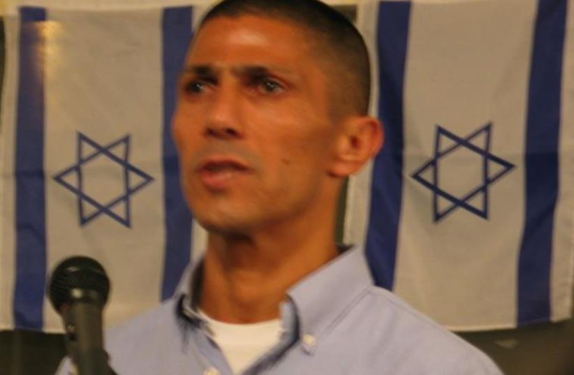 Israeli Beduin diplomat Ismail Khaldi speaks at Rutgers (photo credit: Wikimedia Commons)