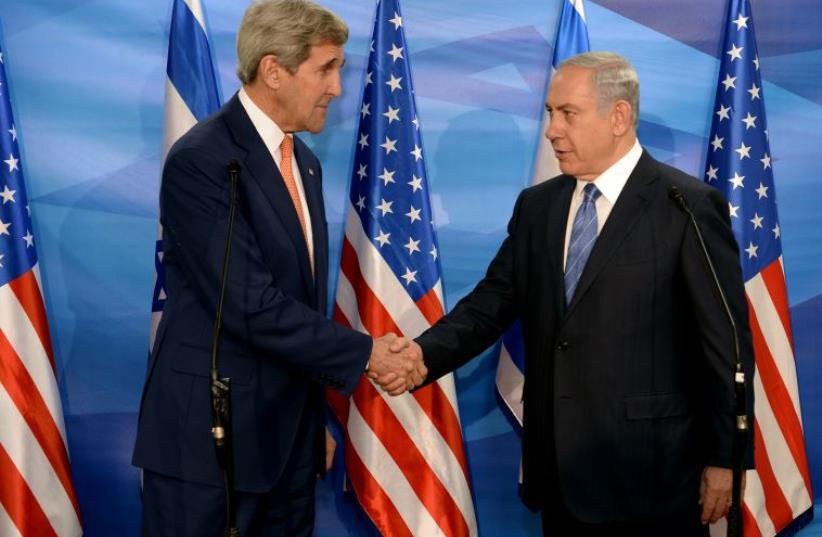 US Secretary of State John Kerry with PM Netanyahu (photo credit: MATTY STERN, US EMBASSY TEL AVIV)