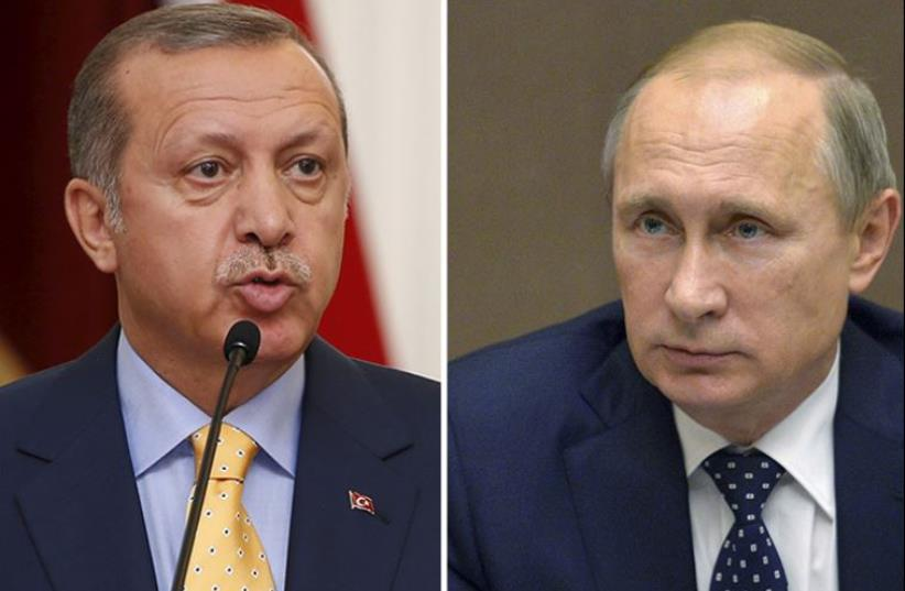 Putin and Erdogan (photo credit: REUTERS)