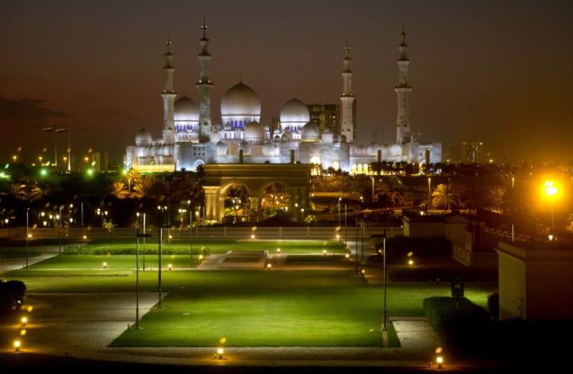 Sheikh Zayed Grand Mosque in Abu Dhabi, United Arab Emirates (photo credit: REUTERS)