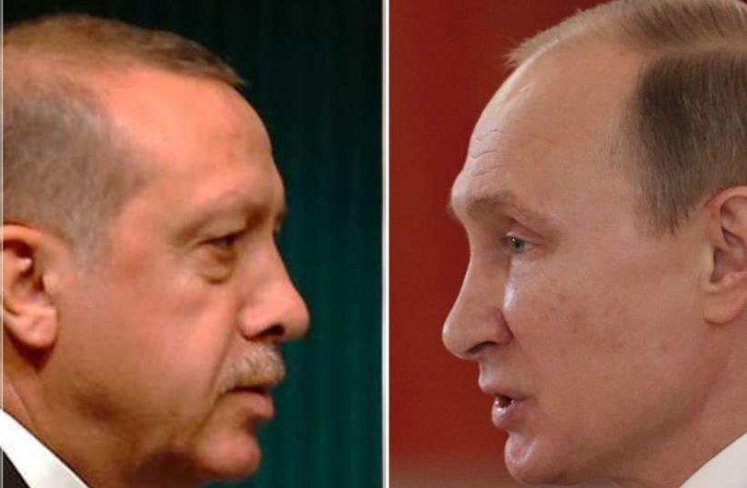 Erdogan vs. Putin (photo credit: REUTERS)