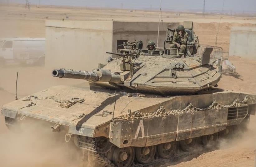 Merkava 4 tank. (photo credit: IDF SPOKESMAN'S UNIT)