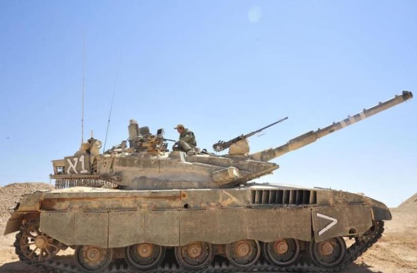 Merkava Mark II tank (photo credit: IDF SPOKESMAN'S UNIT)