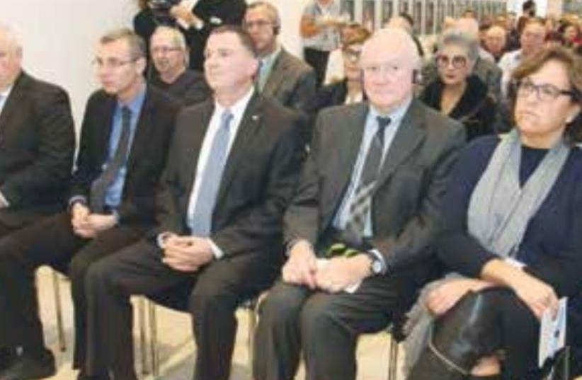 AT YESTERDAY'S Knesset ceremony sit (from right) Rabbi Abraham Cooper, Canadian Ambassador Vivian Bercovici, UNESCO official Francesco Bandarin, Knesset Speaker Yuli Edelstein, and MK Yariv Levin. (photo credit: ISAAC HARARI)
