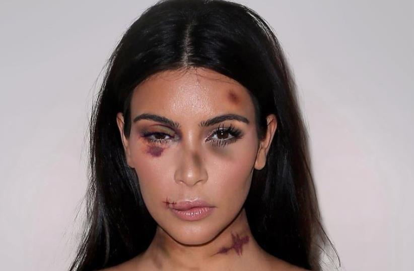 Kim Kardashian in #breakthesilence campaign (photo credit: ALEXSANDRO PALOMBO)