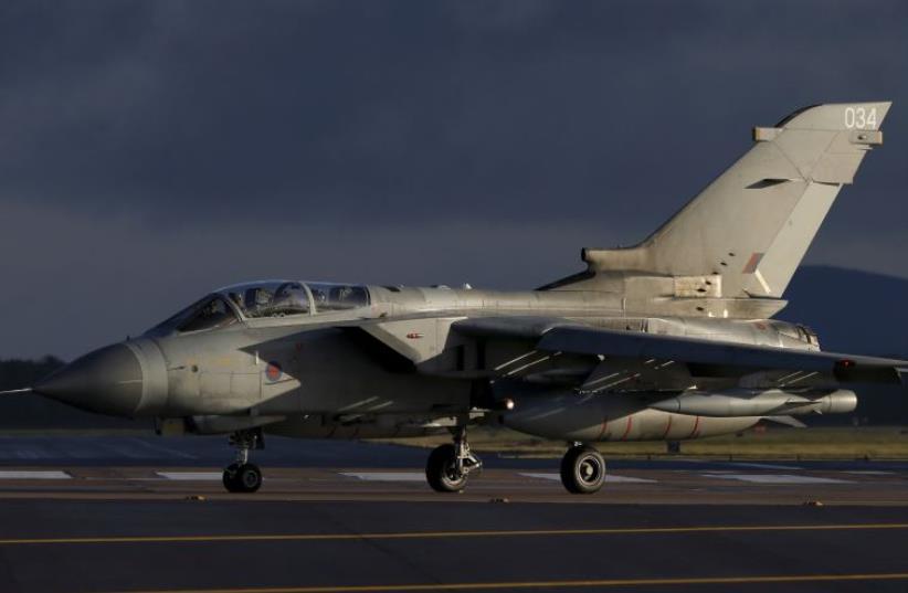 A British Royal Air Force jet (photo credit: REUTERS)