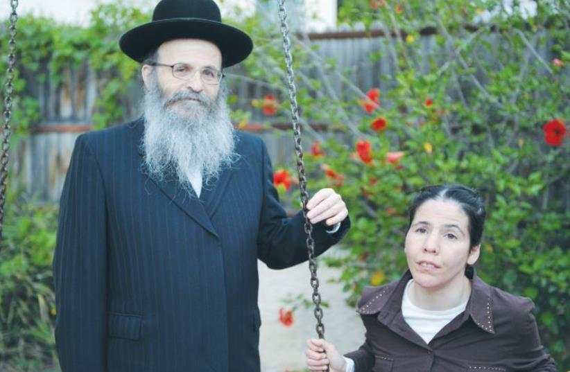 RABBI CHAIM PERKAL and his daughter, Rivka (photo credit: ALEI SIACH)