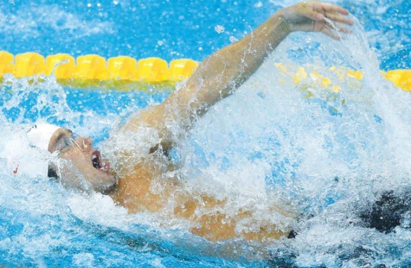 Israeli swimmer Guy Barnea (photo credit: REUTERS)